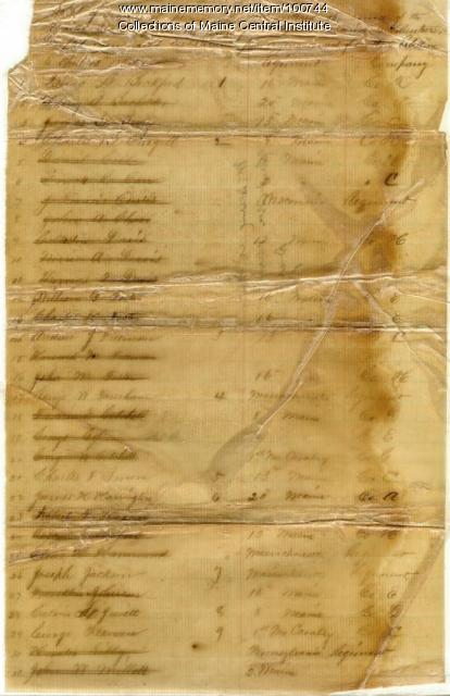 List of Civil War soldiers, Pittsfield, 1864