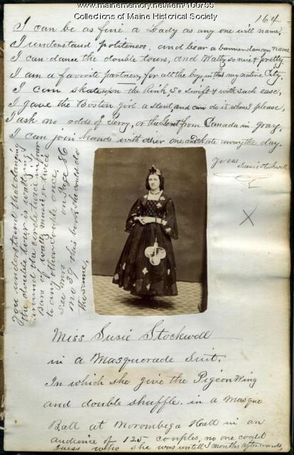 Susie Stockwell, Bangor, ca. 1865
