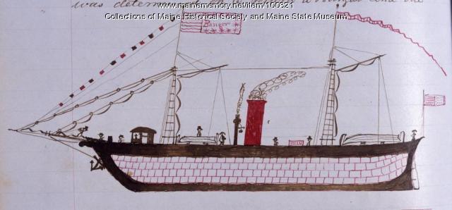 """Steamer """"Bangor,"""" 1847"""