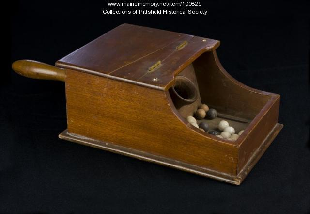 GAR ballot box, Pittsfield, ca. 1879