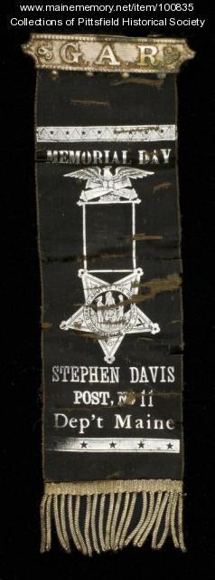 GAR Memorial Day badge, Pittsfield, ca. 1904