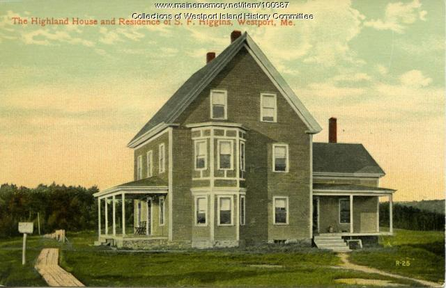 Highland House, Westport Island, ca. 1908