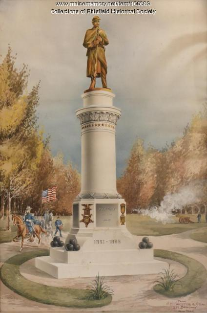 Soldiers' Monument design, Pittsfield, ca. 1903