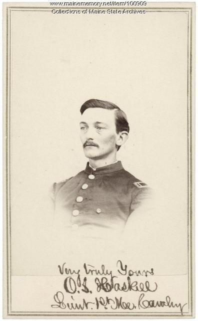 Lt. Orin S. Haskell,  Bangor, ca. 1864