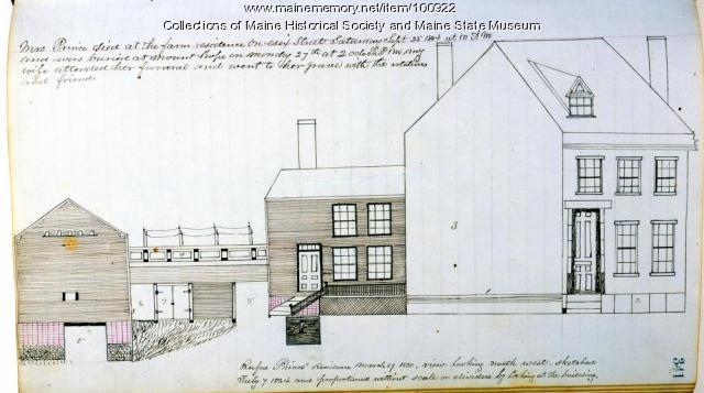 Rufus Prince residence, Bangor, 1850