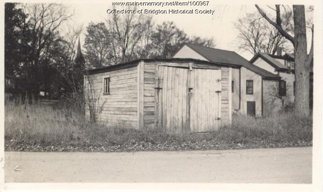 Downes Garage, Depot Street, Bridgton, ca. 1938