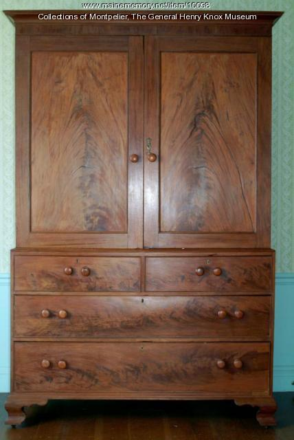 Henry Knox wardrobe, Thomaston, ca. 1790