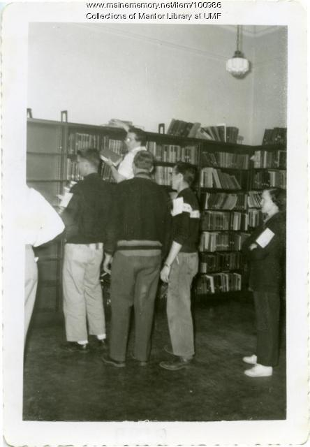 Reading Room in Merrill Hall, Farmington, 1956.