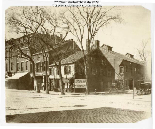 Congress and Oak Streets, Portland, ca. 1900
