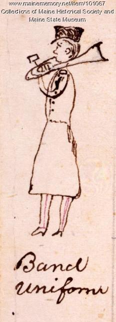 Bangor Cornet Band member, 1864