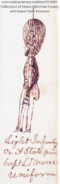 Capt. L. J. Morse, Co. A, Maine State Guard, Bangor, 1864