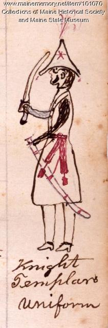 Knights Templar member, Bangor, 1864