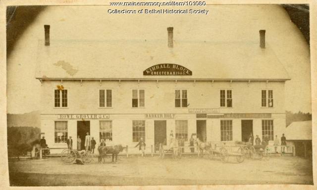 Kimball Block, Bethel, ca. 1870
