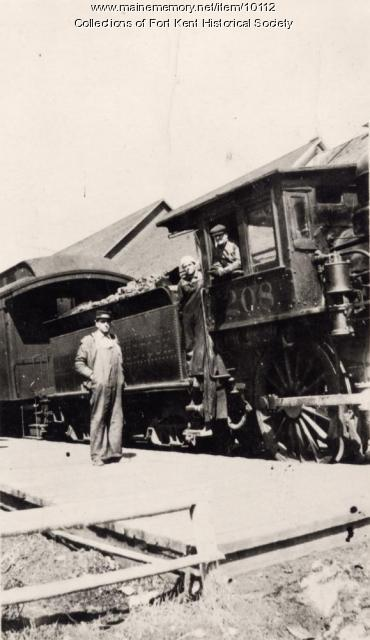Bangor and Aroostook engine 208, Fort Kent, c.  1910