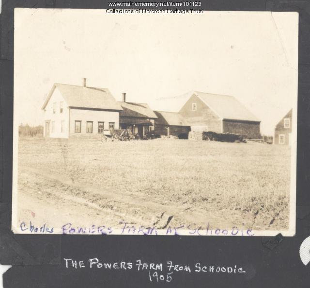 Charles Powers farm, Schoodic, 1905