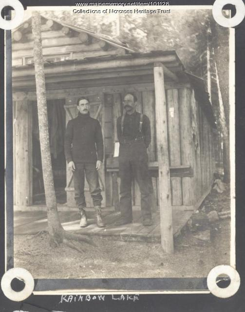 Sportsmen's Camp, Rainbow Lake, ca. 1900
