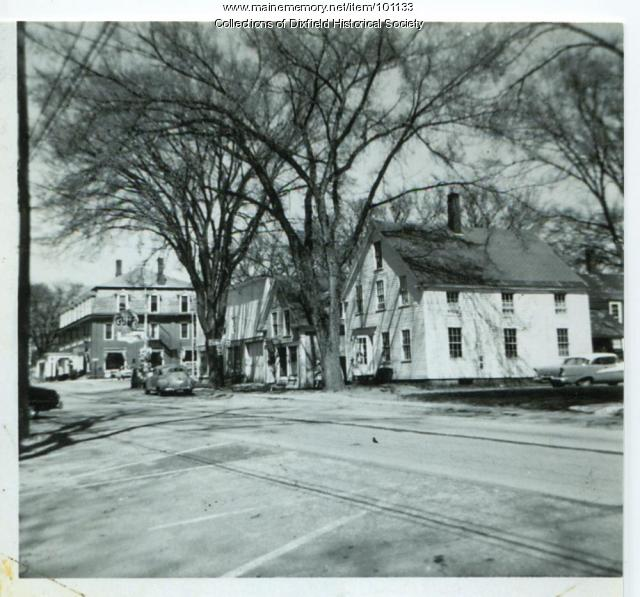 North side Main Street, Dixfield, ca. 1950