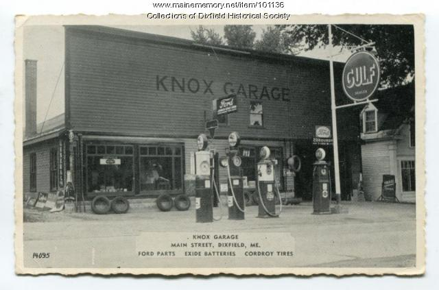 Knox Garage, Dixfield, ca. 1940