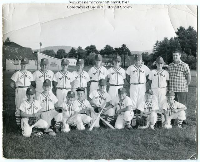 Little league baseball team, Dixfield, ca. 1958.