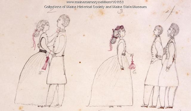 Dancing, Bangor, ca. 1865