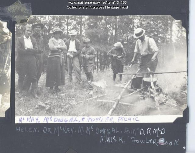 Cookout, West Branch Lower Lakes, ca. 1925