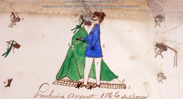 Fashions in Bangor, 1866