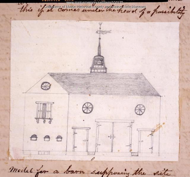 John Martin barn plan, Bangor, 1867