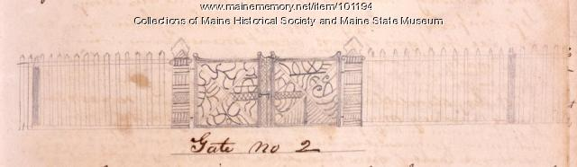 Gate no 2 design, Bangor, 1867