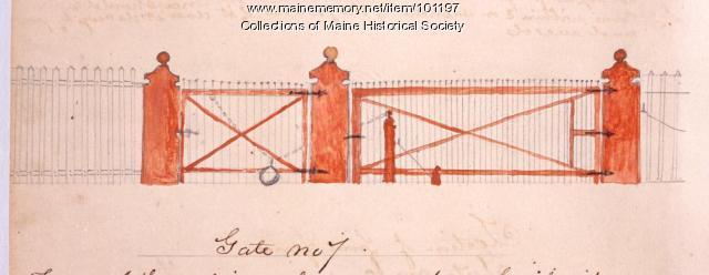 Gate no 7 design, Bangor, 1867