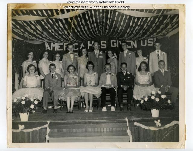 8th grade graduating class, St. Albans, 1960