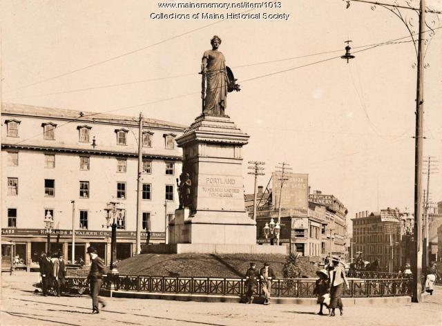 Monument Square, Portland, 1902