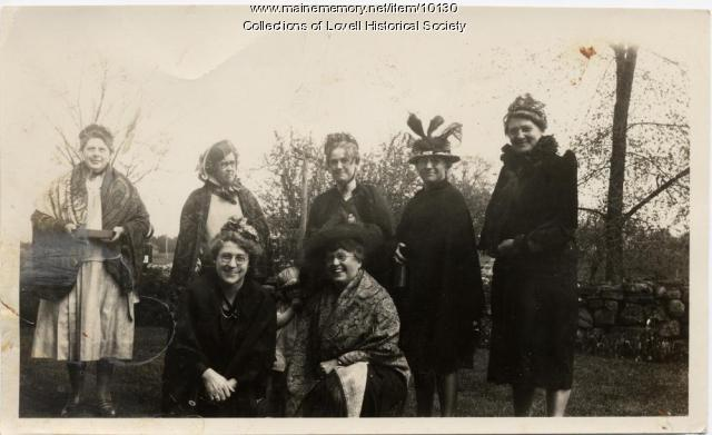 Women in costume, Lovell, ca. 1920