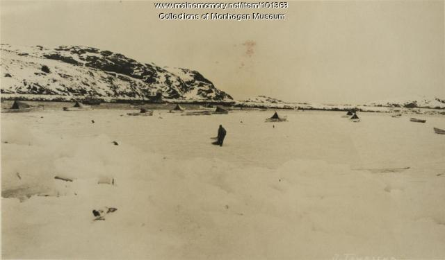 Frozen harbor, Monhegan, 1934