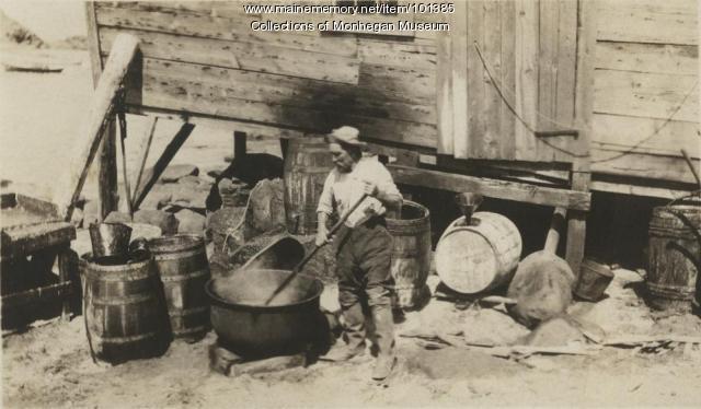 Captain Andrew Peterson, Monhegan, ca. 1890
