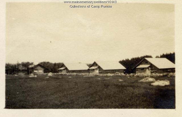 Camp Runoia First, Second and Baby Shack, or Third Shack, 1915