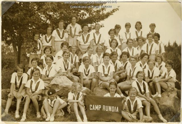 Campers in 1933 at Camp Runoia