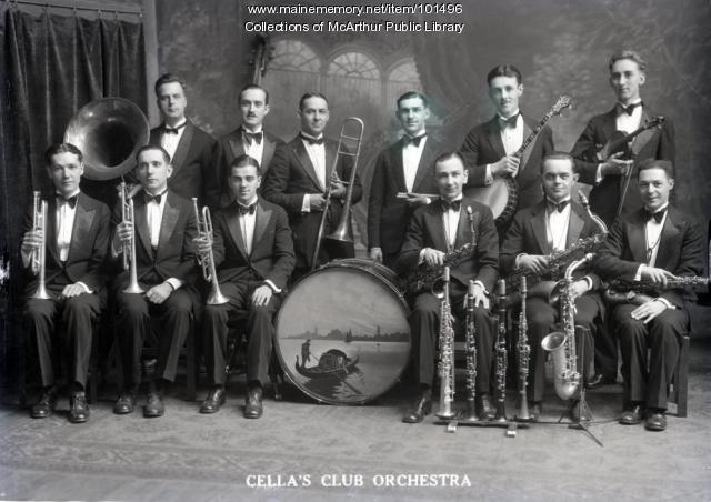 Cella's Club Orchestra, Biddeford, 1929