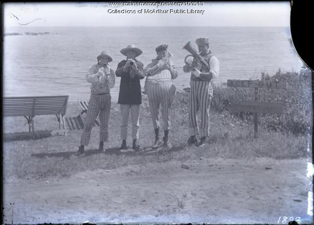 "The ""German Band"", Fortune's Rocks, ca. 1910"