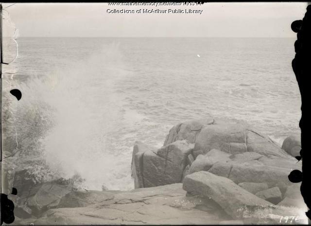 Waves at Fortune's Rocks, Biddeford, ca. 1915