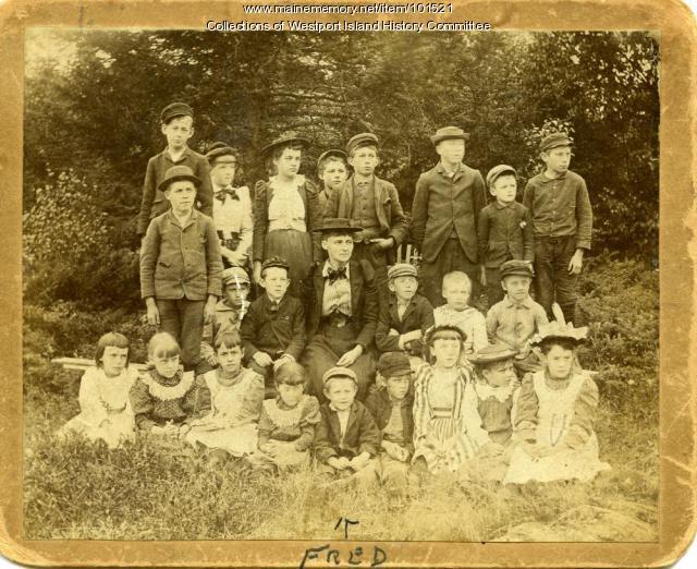 Center School Students, Westport Island, 1893