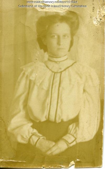 Verlie Colby, Westport, ca. 1909