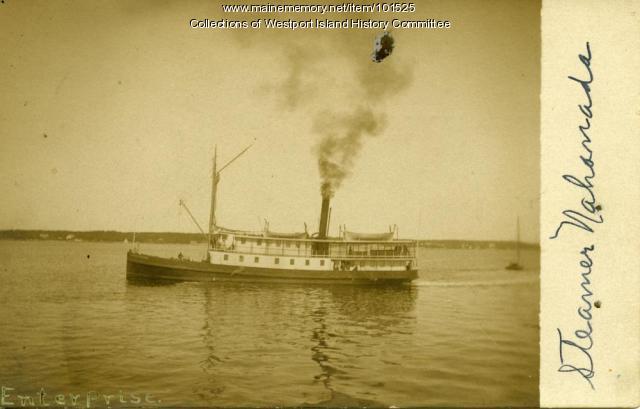 Steamer Nahanda, Westport, ca. 1908