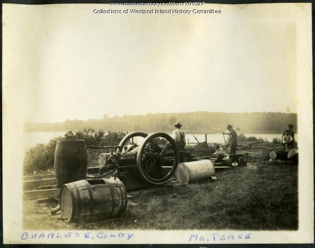 Mill at the shore, Westport Island, ca. 1907