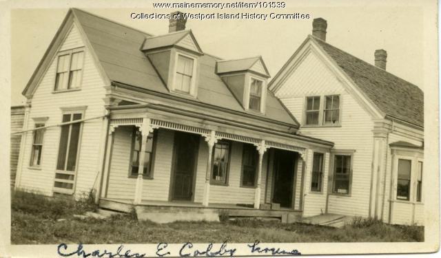 Charles E. Colby home, Westport Island, ca. 1908