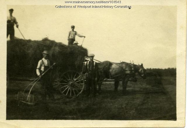 Haying on the Colby Farm, Westport Island, ca. 1907
