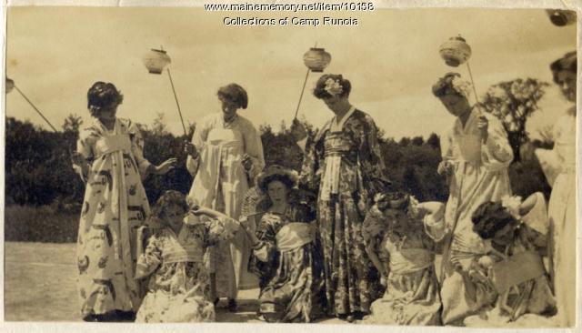 Camp Runoia campers in costume