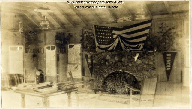 Interior of lodge at Camp Runoia
