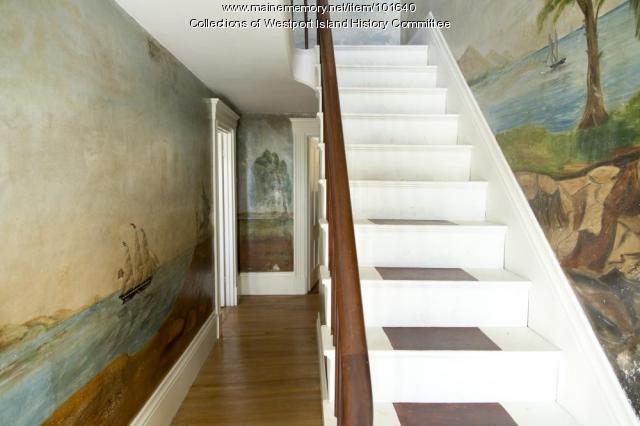 Cornelius Tarbox House entryway, Westport Island, ca. 1858