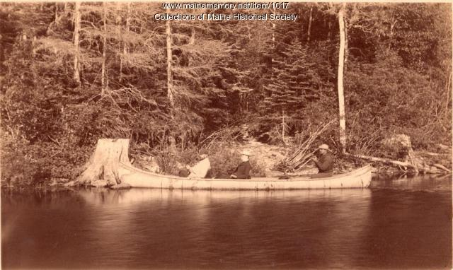 Canoeing on Williams Stream, 1887
