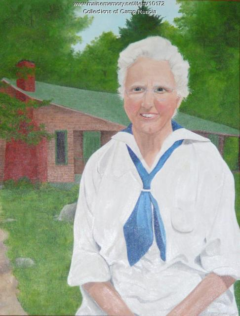 Painting of Lucy Weiser, Camp Runoia, ca. 1986